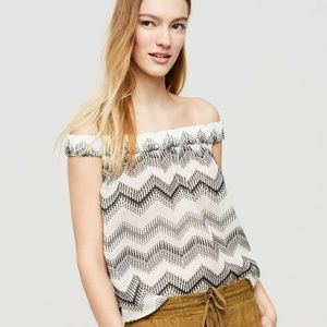 NWT Lou & Grey Zig Zag Off The Shoulder Shirt